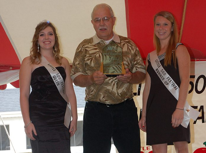 Steve Remington, a veteran motorsports photographer, passed away Aug. 8 at the age of 68. Remington is pictured here in 2011 during his Little 500 Hall of Fame induction. (David Sink Photo)