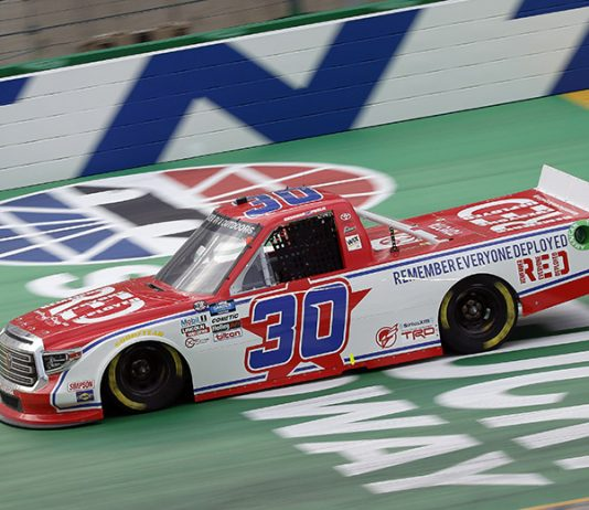 Brennan Poole will not return to On Point Motorsports this year, with Danny Bohn scheduled to drive the No. 30 truck starting at Dover Int'l Speedway. (HHP/Harold Hinson Photo)