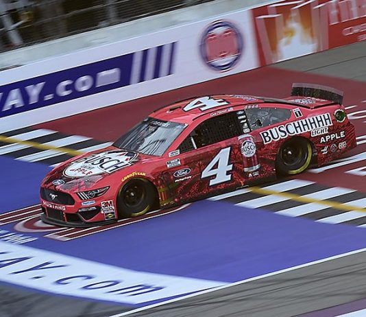Kevin Harvick will start Sunday's NASCAR Cup Series race on the Daytona Int'l Speedway road course from the pole. (Jared C. Tilton/Getty Images Photo)