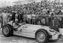 Don Edmunds, shown here in 1957 at Indianapolis Motor Speedway, has passed away at the age of 89. (IMS Photo)