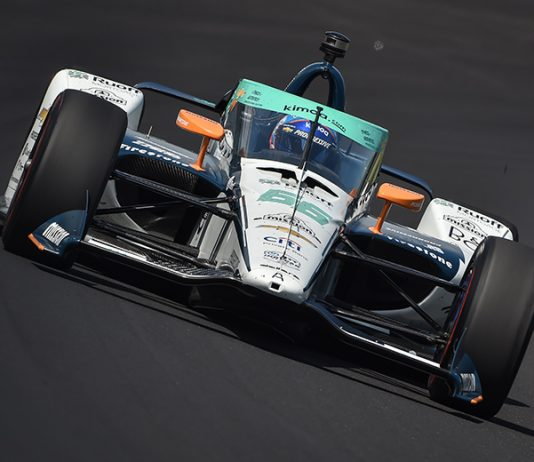 Fernando Alonso was the first driver to crash during Indianapolis 500 practice on Thursday. (IndyCar Photo)