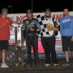 Rising star Ethan Braaksma took the $3,000 IMCA Modified checkers at Hancock County Speedway's Night of 1,000 Stars special Thursday. (ICON Images Photo)