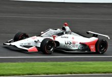 Marco Andretti set the fastest practice lap of the week during Fast Friday at Indianapolis Motor Speedway. (Al Steinberg Photo)
