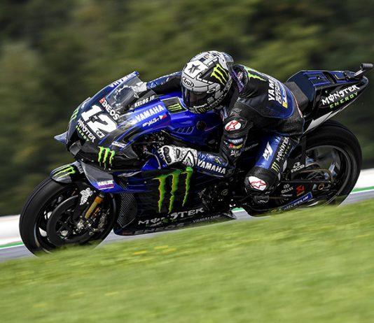 Maverick Viñales claimed the pole for Sunday's MotoGP event in Austria. (Yamaha Photo)