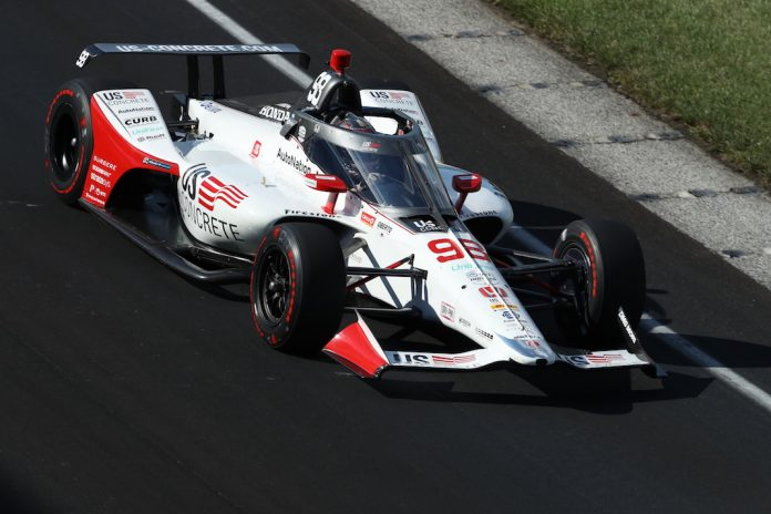 Marco Andretti led the way during Saturday's first qualifying session at Indianapolis Motor Speedway. (IndyCar photo)