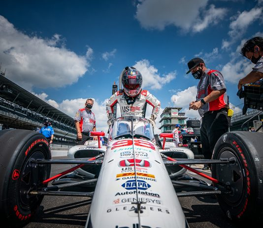 Marco Andretti led an Andretti Autosport qualifying sweep of the first four positions on day one of Indianapolis 500 qualifying. (IndyCar Photo)