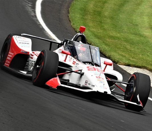 Marco Andretti captured the pole for the 104th Indianapolis 500 on Sunday afternoon. (Al Steinberg Photo)
