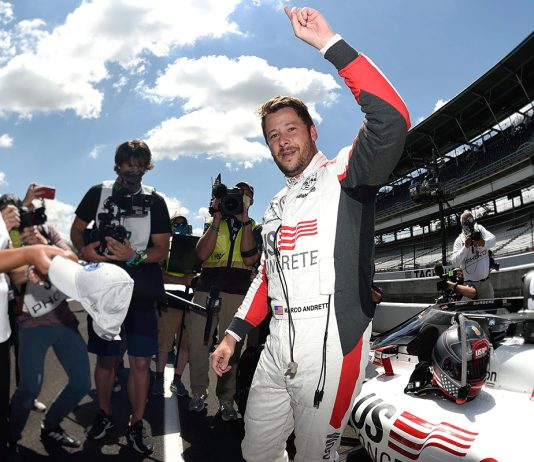 Marco Andretti pole winner 104th Indianapolis 500. (IndyCar Photo)