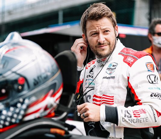 Marco Andretti backed up his pole-winning run Sunday by also setting the fastest lap in Indianapolis 500 practice. (IndyCar Photo)