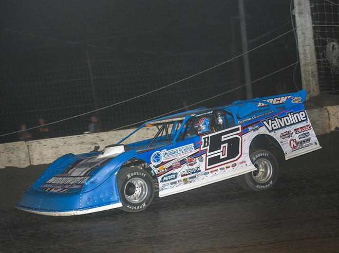 Brandon Sheppard earned his fourth DIRTcar Summer Nationals victory in six days Sunday at Lincoln Speedway. (Brendon Bauman Photo)