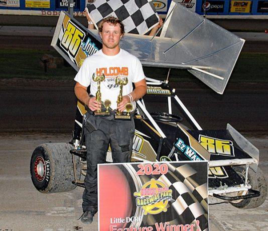 Tanner Johnson earned two victories at Little DCRP Sunday evening.