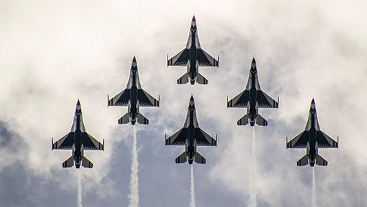 The U.S. Air Force Thunderbirds will perform a flyover prior to the 104th Indianapolis 500.