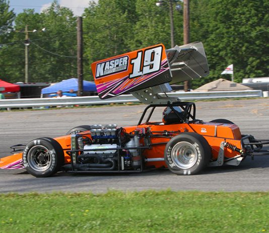 Trent Stephens and the ACME Racing team secured the Midwest Supermodified Series championship at Lorain County Raceway Park Saturday night. (Todd Ridgeway Photo)