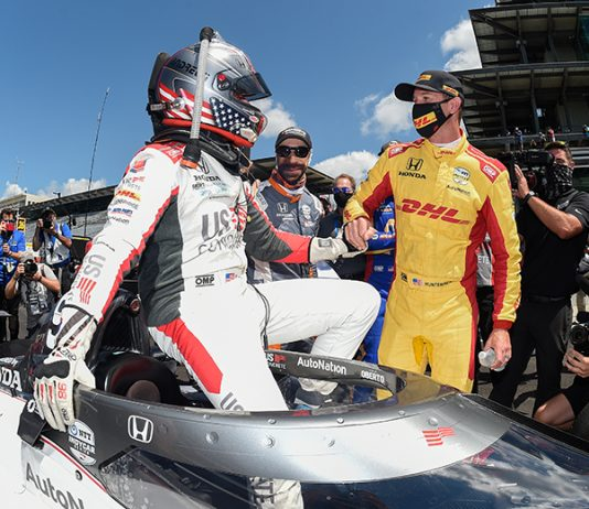 Marco Andretti received a lot of support from the IndyCar paddock following his Indianapolis 500 pole. (IndyCar Photo)