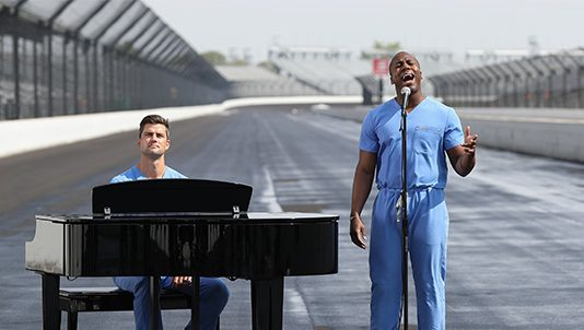 The Singing Surgeons, Dr. Elvis Francois and Dr. William Robinson, will be a part of the pre-race festivities for the Indianapolis 500 on Sunday.