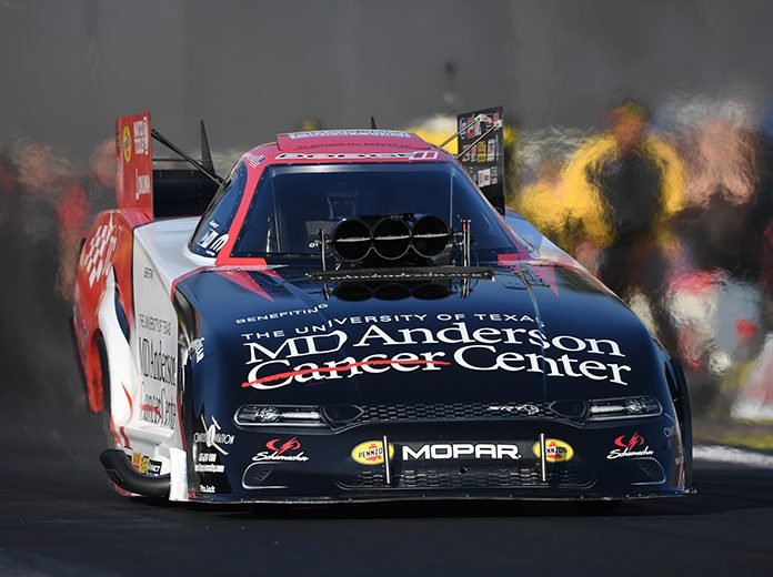 The giving car program, which supports the Don Schumacher Racing Funny Cars of Tommy Johnson Jr. and Jack Beckman, will come to an end at the conclusion of the 2020 season. (NHRA Photo)