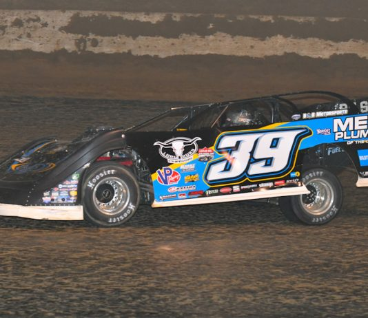 Tim McCreadie, shown earlier this season, won Thursday night at Batesville Motor Speedway. (Michael Moats photo)