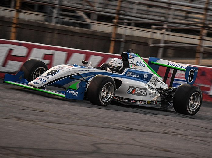 Manuel Sulaiman earned the pole for the Indy Pro 2000 portion of Friday's Carb Night Classic at Lucas Oil Raceway.