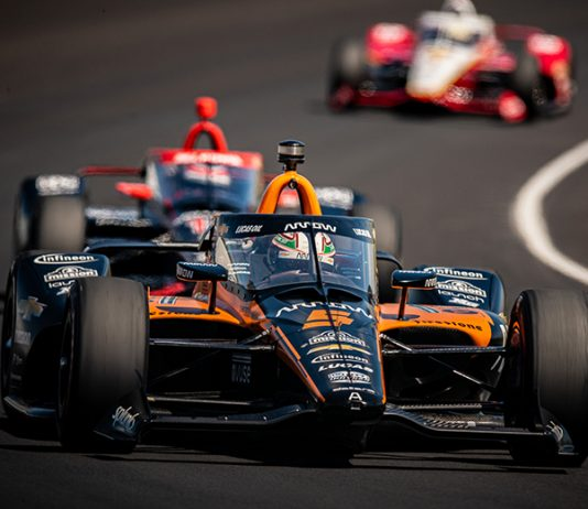 Pato O'Ward was fastest on Carb Day at Indianapolis Motor Speedway Friday. (IndyCar Photo)