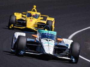 Fernando Alonso (66) on track last Sunday at Indianapolis Motor Speedway. (IndyCar Photo)