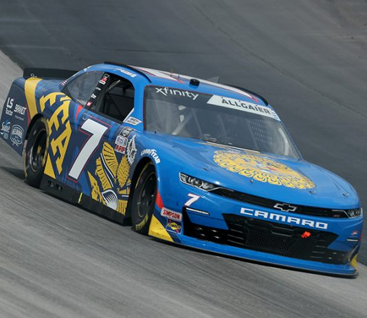 Justin Allgaier dominated Saturday's NASCAR Xfinity Series event at Dover Int'l Speedway. (Hunter Martin/Getty Images Photo)