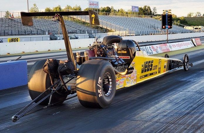 Mike Coughlin was the low qualifier in the Top Dragster division Saturday at the JEGS SPORTSnationals.