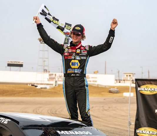 Jesse Love won Saturday's ARCA Menards Series West event at Colorado National Raceway. (Chet Strange/ARCA Racing Photo)