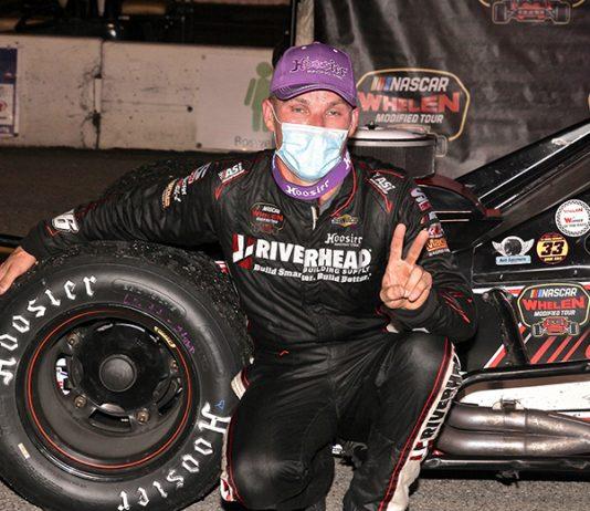 Craig Lutz won Saturday's NASCAR Whelen Modified Tour event at Jennerstown Speedway. (Dan Demarco Photo)