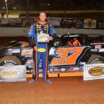 Drew Kennedy captured his first Crate Late Model feature win of the season Saturday at Volunteer Speedway. (Randall Perry Photo)