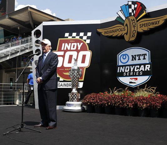 Roger Penske gave the command to start the engines prior to the start of Sunday's Indianapolis 500. (IndyCar Photo)