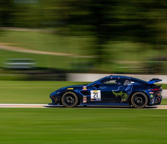 Robby Foley and Michael Dinan triumphed in Saturday's Pirelli GT4 America SprintX event at Road America.