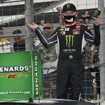 Ty Gibbs earned another ARCA Menards Series victory Saturday at World Wide Technology Raceway. (Jeff Curry/ARCA Photo)