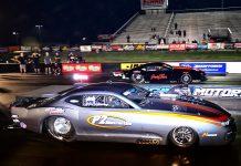 Kurt Steding (near lane) outran Jason Harris at Virginia Motorsports Park. (Roger Richards photo)