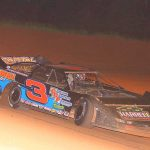 Shaun Harrell won the late model feature Saturday at Lake View Motor Speedway.
