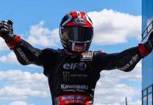Jonathan Rea topped Sunday's World Superbike event at MotorLand Aragon. (WorldSBK Photo)