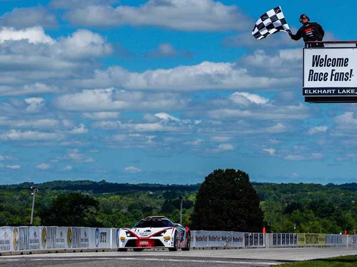 The Marco Polo Motorsports duo ofMads Siljehaug andNicolai Elghanayan dominated Sunday's Pirelli GT4 America SprintX event at Road America.