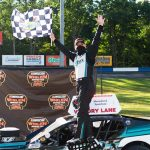 Justin Bonsignore triumphed in Sunday's NASCAR Whelen Modified Tour event at Monadnock Speedway. (Kathryn Riley/NASCAR Photo)