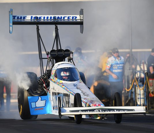 Sanit Hand Sanitizer will sponsor NHRA Top Fuel rookie Justin Ashley for the rest of the season. (NHRA Photo)