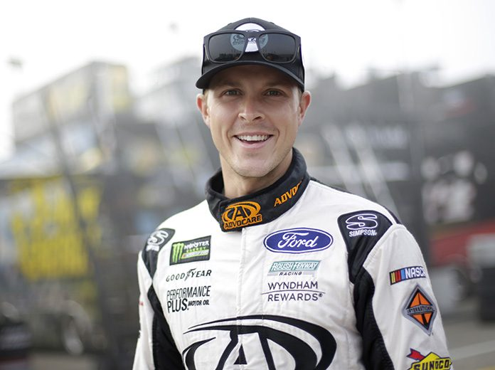 Trevor Bayne will make his return to NASCAR competition this weekend at Darlington Raceway. (HHP/Garry Eller Photo)
