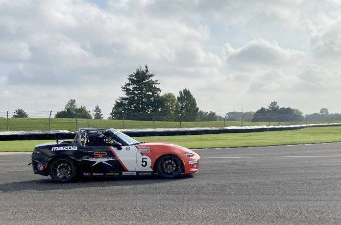 Gresham Wagner was fastest in Battery Tender Global Mazda MX-5 Cup presented by BFGoodrich Tires qualifying Thursday at the Indianapolis Motor Speedway road course.