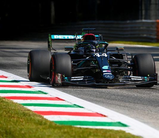 Lewis Hamilton led the way during Formula One practice Friday in Italy. (LAT Images Photo)