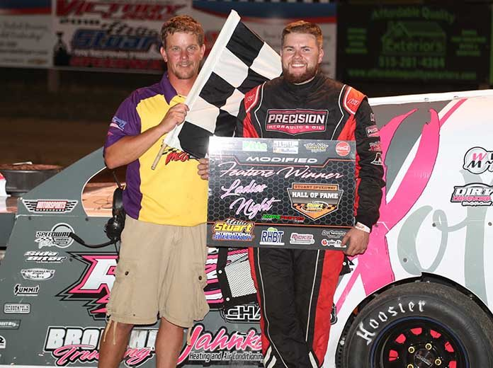 Tom Berry Jr. has visited victory lane more than 15 times this year as he prepares for the IMCA Speedway Motors Super Nationals. (Jeff Zimmerline Photo)