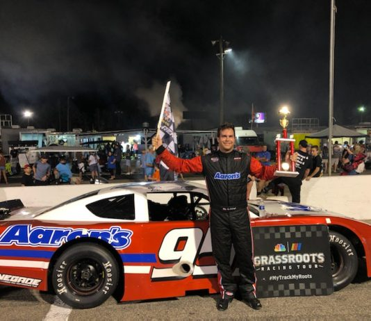 Sam Yarbrough was the winner in racing's return to Florence Motor Speedway.