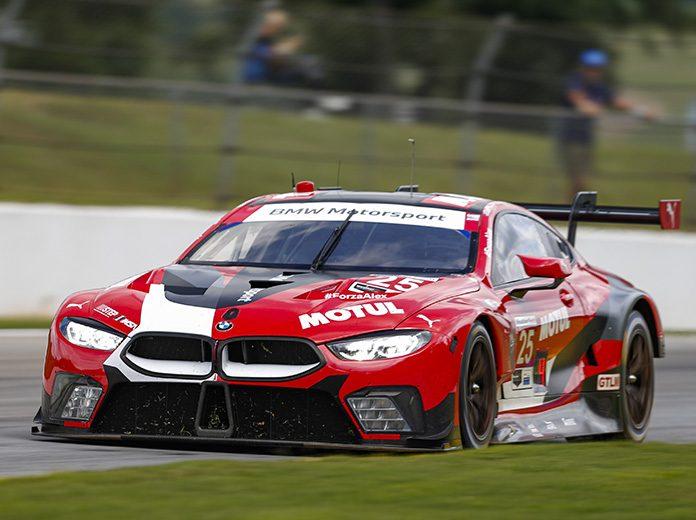 Connor De Phillippi and Bruno Spengler drove the No. 25 BMW Team RLL BMW M8 GTE to victory in the GT Le Mans class Saturday at Michelin Raceway Road Atlanta. (IMSA Photo)