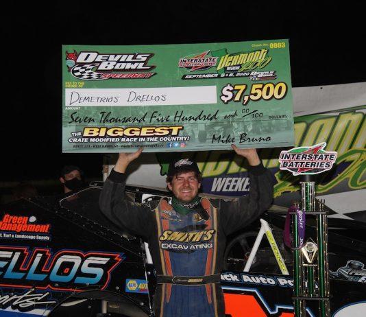 Demetrios Drellos won Sunday's Vermont 200. (Jeremy McGaffin photo)