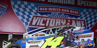 Ryan Watt pocketed $17,000 for winning the Coalcracker 72 Sunday night at Big Diamond Speedway. (Dylan Friebel Photo)
