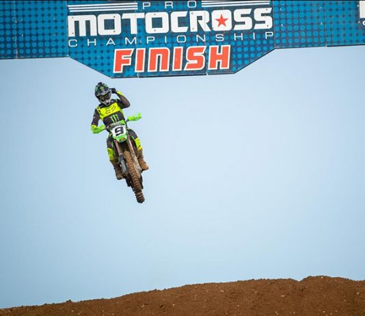 Adam Cianciarulo captured his first overall Lucas Oil Pro Motocross 450 class victory Monday at RedBud MX. (Align Media Photo)