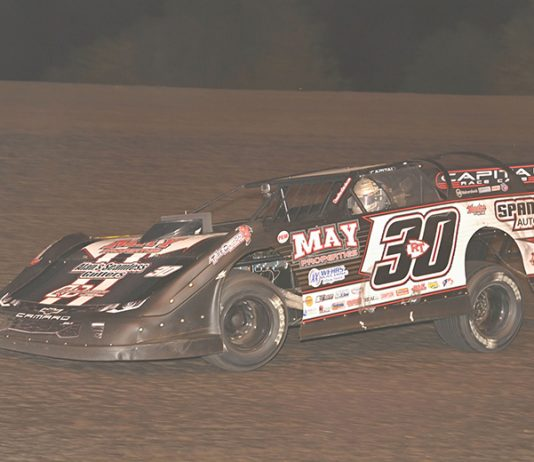 Ricky Thornton Jr. wont he IMCA Speedway Motors Super Nationals late model title for the second-straight season on Monday. (Tom Macht Photo)