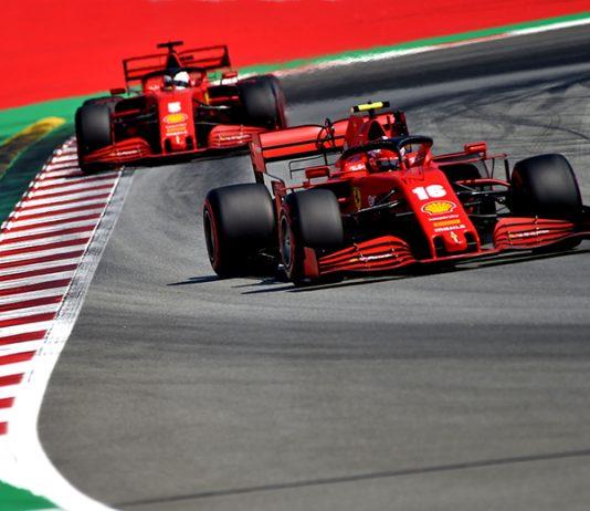 The Ferrari entries of Charles Leclerc (16) and Sebastian Vettel (5) are much slower than their Formula One rivals this year. (Ferrari Photo)