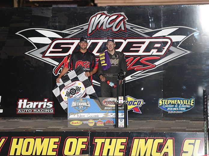 Nate Coopman is the defending champion of the IMCA Speedway Motors Super Nationals Sport Compact feature at Boone Speedway. (Jim Zimmerline Photo)